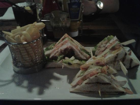 pentahotel Ipswich: Club sandwich from restaurant menu
