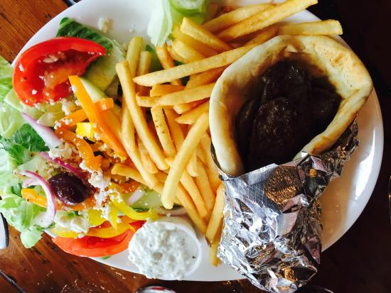 Athena By The Sea: gyro platter