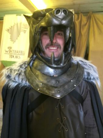 Game of Thrones Tours - Winterfell: The actual Hound's helmet!