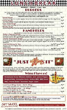 Bob's Victory Grille: New Menu