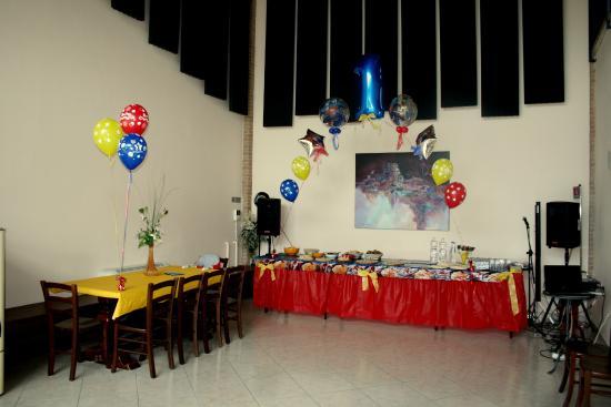 Agriturismo Argaland Parma: Sala feste festa bambini