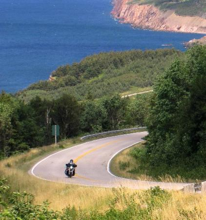 Cabot Trail: Rounding a curve...