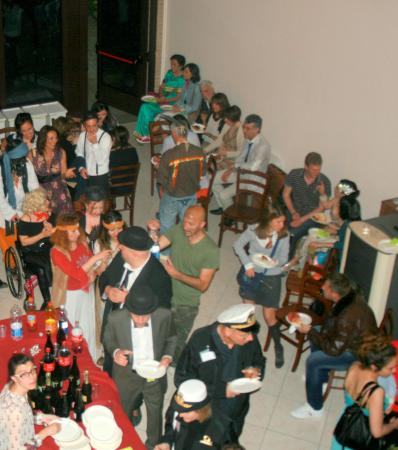 Agriturismo Argaland Parma: Sala feste festa a tema