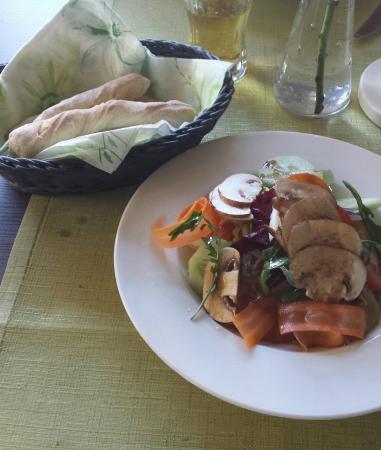 Restaurant am Flugplatz: Salatteller
