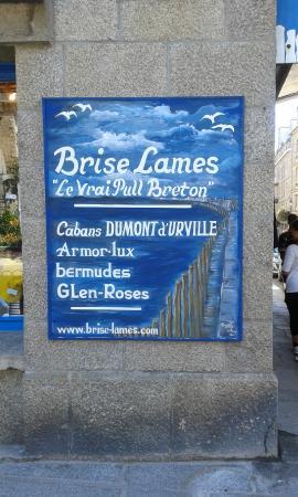 Les Remparts de Saint-Malo: insegna tipica