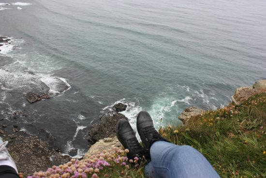 Clare Coastal Walk Project: You can go right up to the edge if you choose