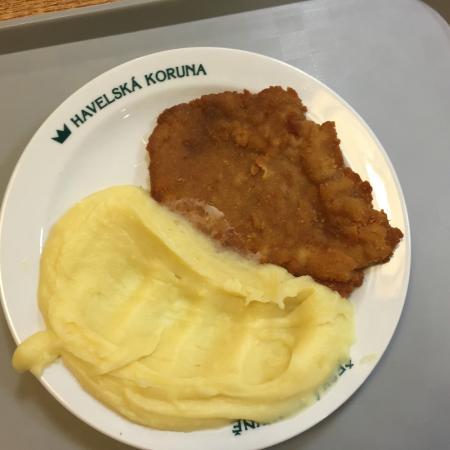 Restaurant Havelska Koruna: porc pané avec purée