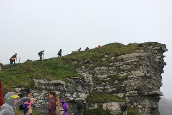 Clare Coastal Walk Project: One of the more strenuous parts of the hike