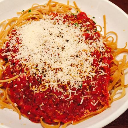 Olive Garden: spaghetti integral con salsa de carne