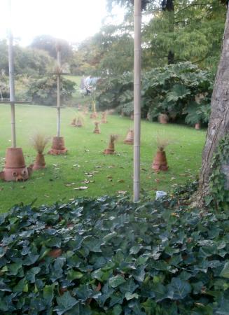 Jardin des Plantes: pots de fleurs