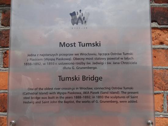 Info Wall Notice about the Tumski Bridge