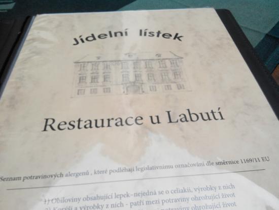 Restaurace U Labuti: Меню