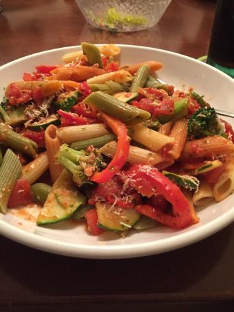Olive Garden: tallarines vegetarianos