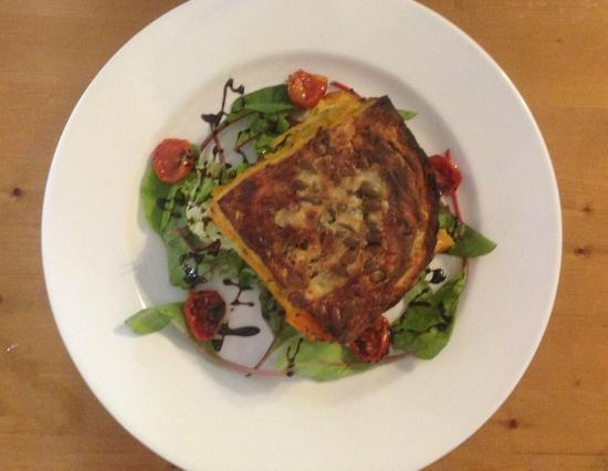 The Gladstone Arms: Roasted Squash, Leek and Goats Cheese Lasagne