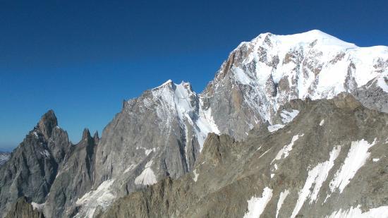 Punta Helbronner - Skyway Monte Bianco: Monte Bianco, Aiguille Blanche e Aiguille Noire de Puterey