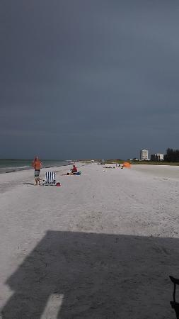 Siesta Beach: Early Saturday morning during threat of a tropical storm