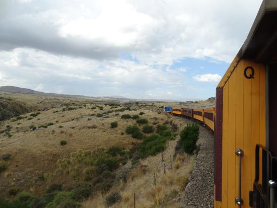 Taieri Gorge Railway: from the train