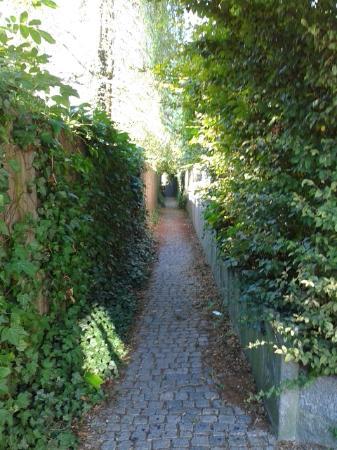 Heinrichsturm: пешеходная тропинка от башни к стоянке машин