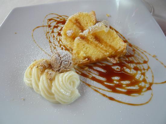 Ristorante Agnello D'Oro: Tarta del Donizet (tarta  Donizetti con galletas de almendra y crema)