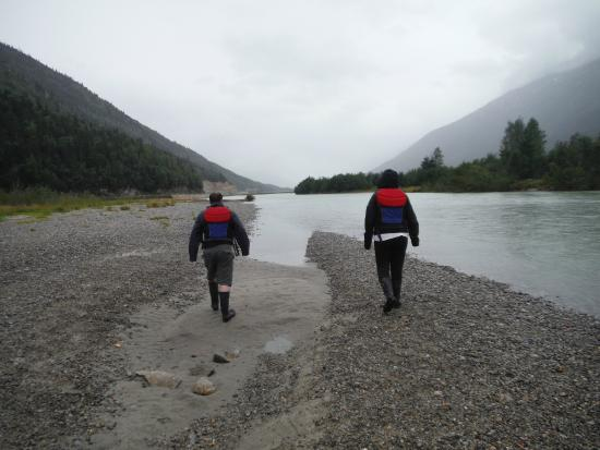 Skagway Float Tours: End of tour area