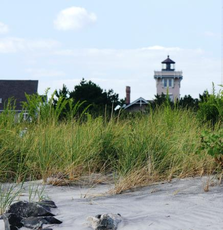 Hereford Inlet Lighthouse: Light House from Sea Wall
