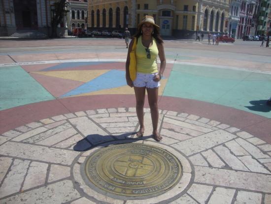 Recife antigo no Marco zero.