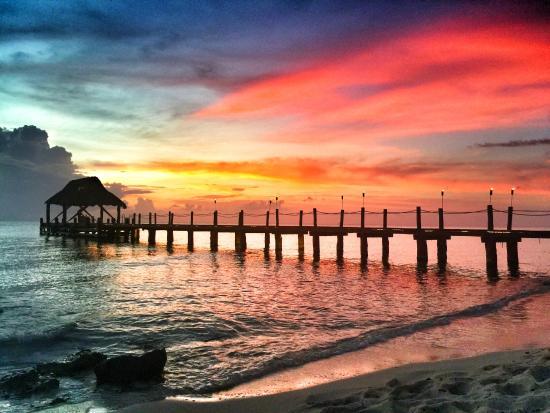 Secrets Aura Cozumel: Aura Cozumel Pier at Sunset