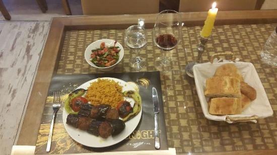 Keyif Cafe & Restaurant: Eggplant and meatballs, was a perfect blend of a turkish kebab...