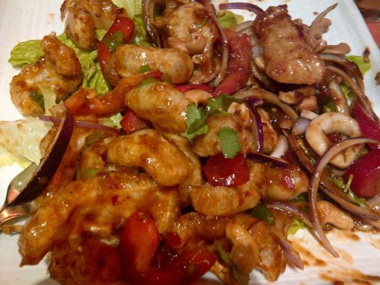 Ying Thai 2: Yum Sam grop (crispy pork skin salad)
