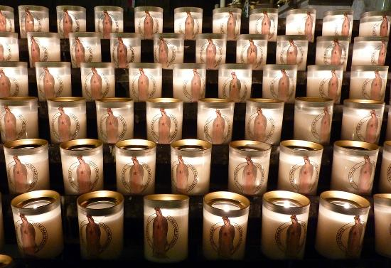 Notre Dame katedral: les bougies