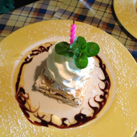 Hotel Bergland Restaurant: Milhojas de Nutella