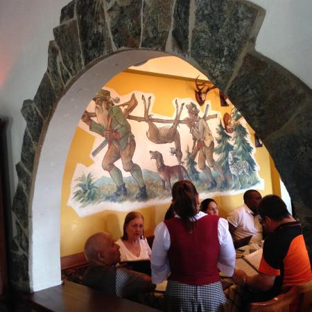 Hotel Bergland Restaurant: Parte del salón