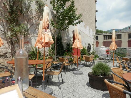 Le Miramonti: La terrasse extérieure non couverte