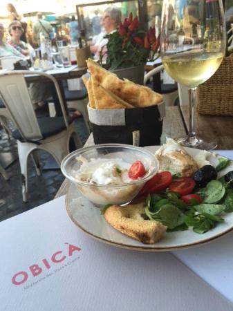 Obica Mozzarella Bar - Campo dei Fiori: Obica mozzarella tasting