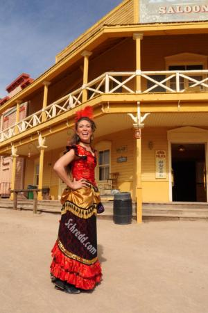 Old Tucson: One of the performers stops for a snap....