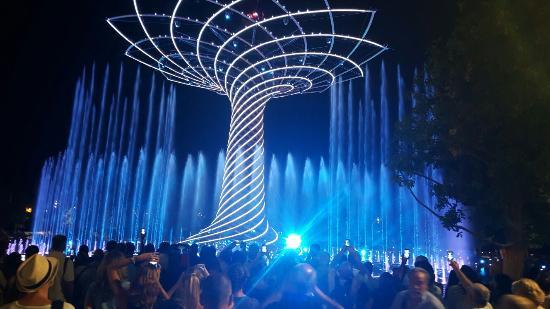 Expo 2015: Spettacolo Serale dell'Albero della Vita