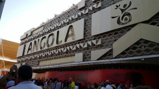 Expo 2015: Esterno padiglione Angola