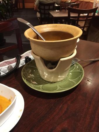 Tub Tim Thai Restaurant: Empty Tom yum soup bowl , set dinner for two.