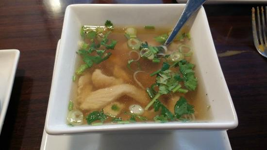 Chai Thai Cuisine: Complimentary chicken soup w/ special