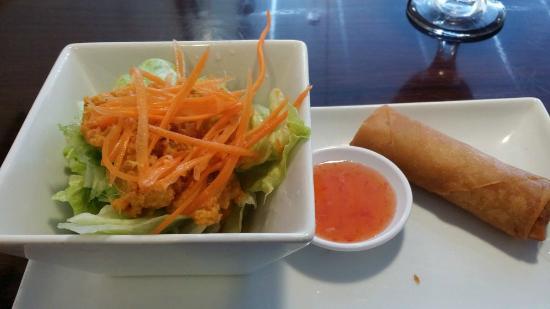 Chai Thai Cuisine: Complimentary house salad & spring roll