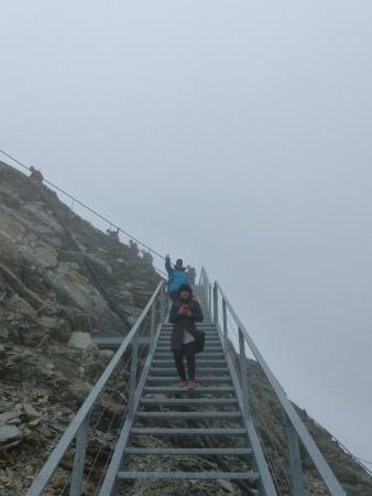 Stubaier Gletscher: Aufstieg zur Blattform