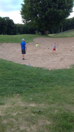 Bellaire, MI: Monster sand area for kids