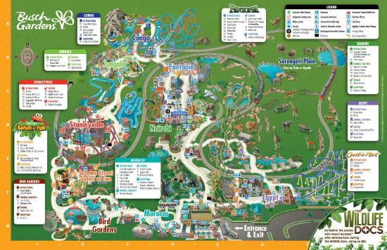 Busch Gardens: Mapa geral do parque