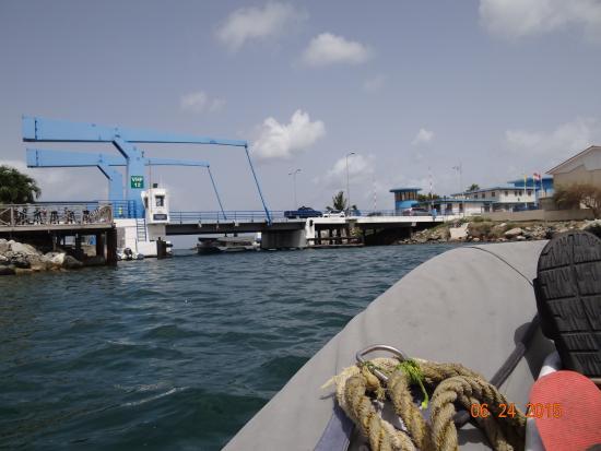 Simpson Bay, St. Maarten-St. Martin: Heading for the drawbridge