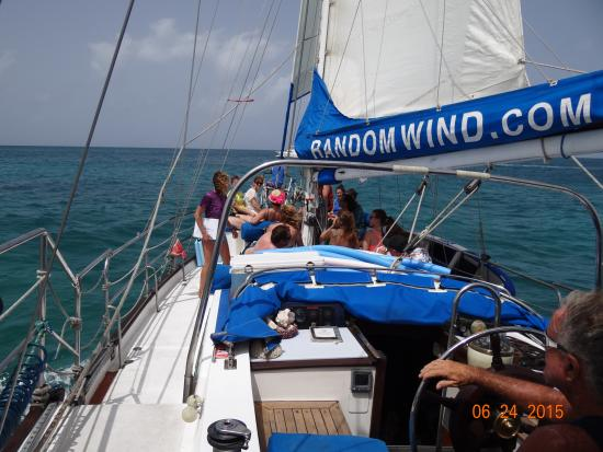 Simpson Bay, St. Martin: Outbound on the wind