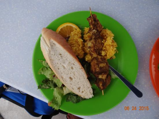 Simpson Bay, St. Martin: Lunch plate