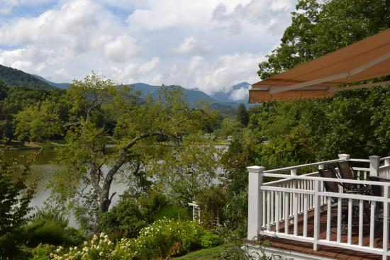Arbor House of Black Mountain: View of Blue Ridge from Back Deck