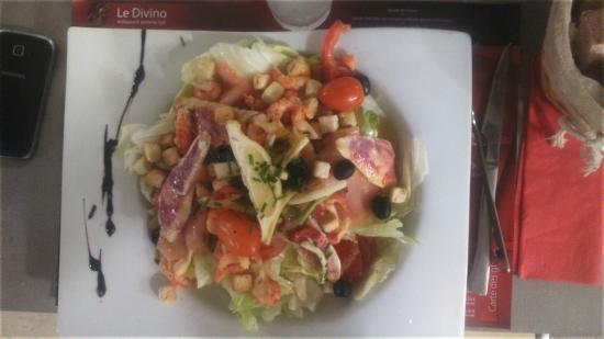 Le Divino : Salade de rougets et queues d'écrevisses