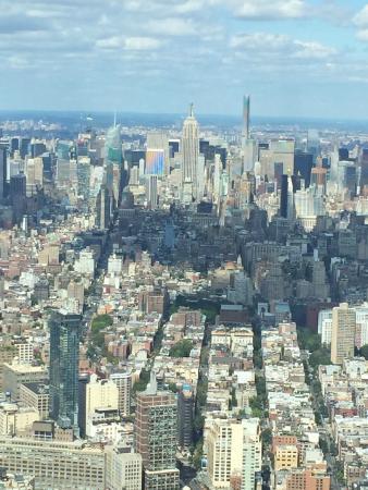 One World Observatory - World Trade Center: Looking uptown at Manhattan
