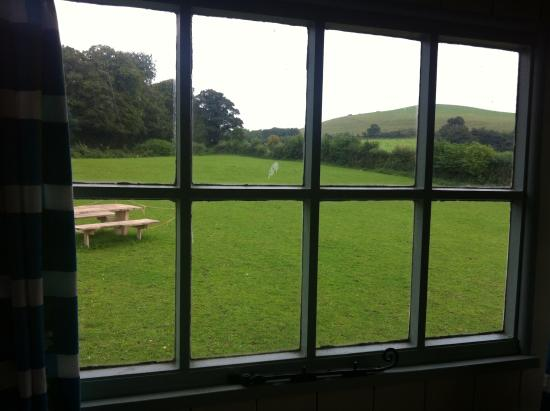 The Old Forge: View from Mabel the Shepherds Hut window.